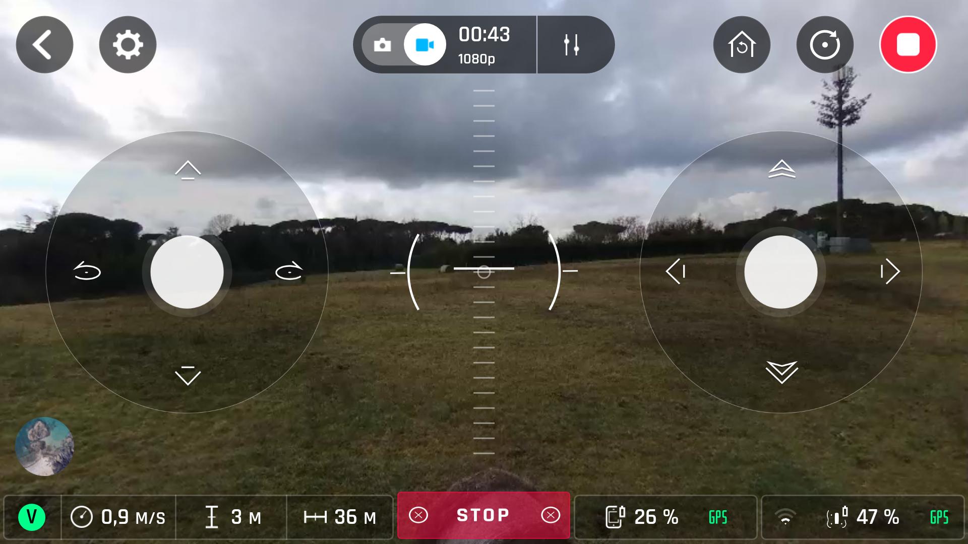 ottimo training con drone