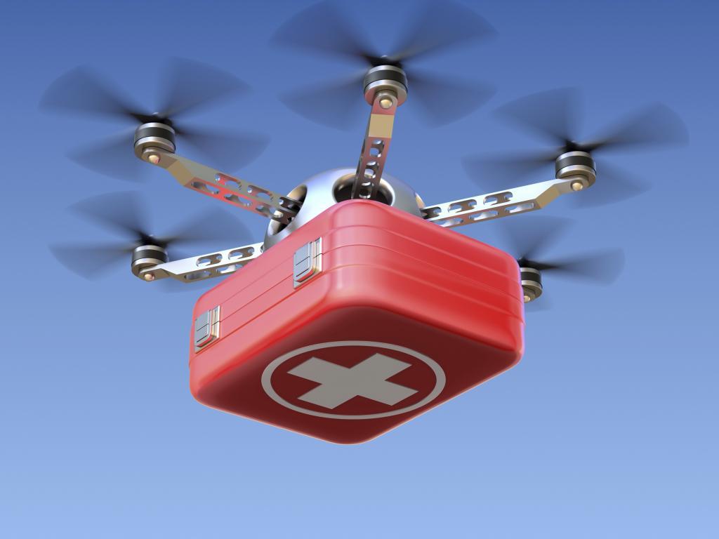 Drone medico e trasporto materiale sanitario