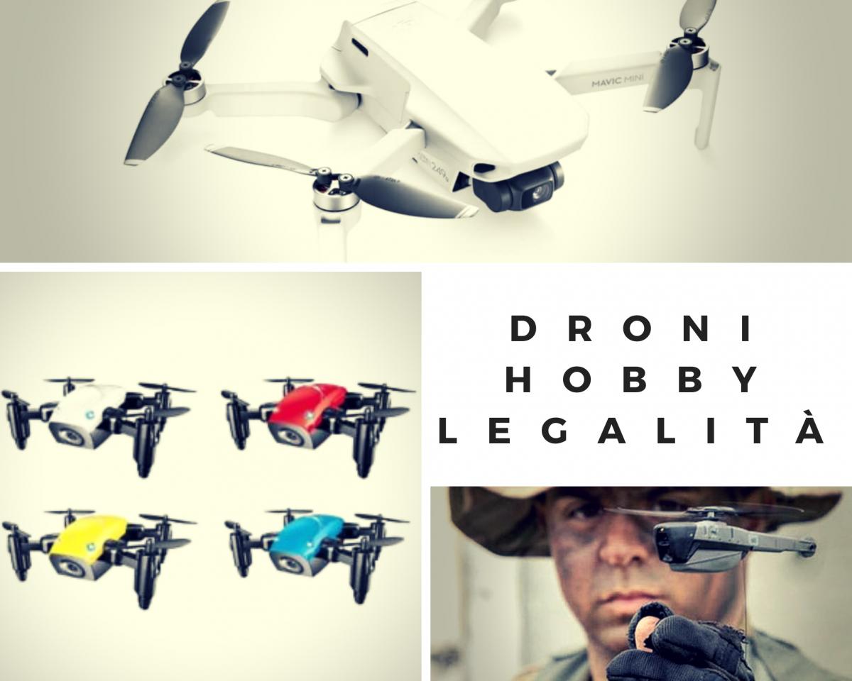 Droni: hobby e legalità